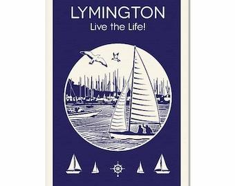 Lymington Tea Towel