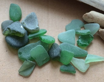 Sea Glass, Green Sea Glass, Large Sea Glass, Beach Glass, Genuine Sea Glass