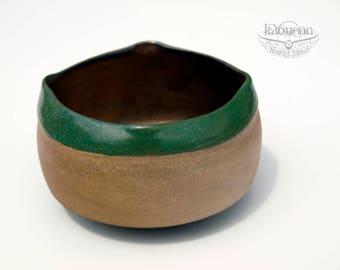 Tea bowl (180 ml) japanese spirit ceramic woodfired stoneware by KaouennCeramics