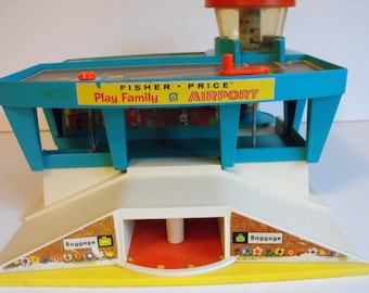 1972 Fisher Price Play Family Airport  (1410)