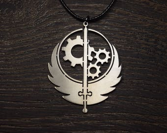 Brotherhood Of Steel Fallout 4 The Institute Decal Fallout 4 Vault 111  Vault Boy Decal Vault-tech Power Armor necklace pendant logo symbol