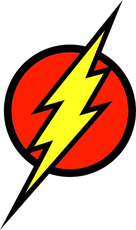 flash logo superhero silhouette studio transfer iron on cut