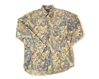 Vintage Floral Gap Button Up