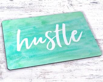 Hustle Watercolor Mousepad - 7.75 x 9.25