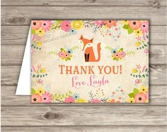 Woodland Fox Thank You Cards TN605