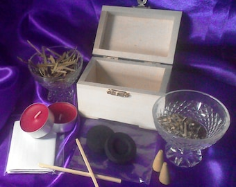 """Hedge Witch Boxed Spell Kit """"Faithful Happy Union"""". Pagan, Wicca, Witchcraft"""