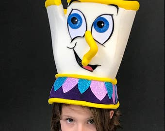 Chip headdress, Teacup costume, Beauty and the beast, Theater production