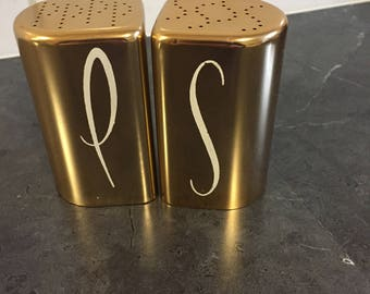 Vintage Aluminum Salt & Pepper Shakers