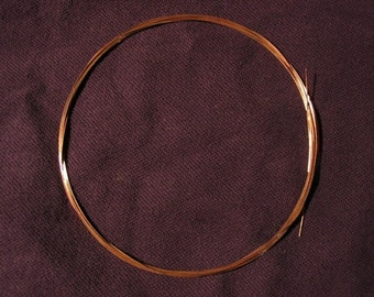 FREE Shipping 14K Pink (Rose) Solid Gold Round Wire 26g 1 Foot HH