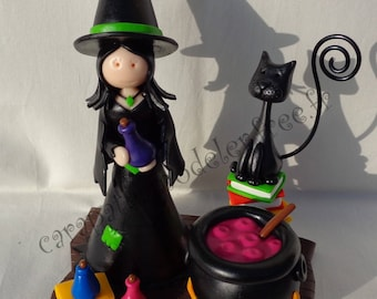 Small picture holder colorful witch
