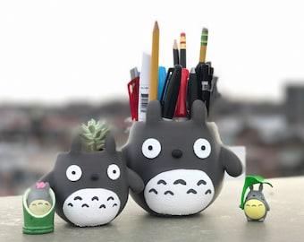 Totoro Planter, My Neighbor Totoro, Studio Ghibli, BirthdayGift, Graduation Gift, Totoro, Pencil Holder, 3d Printed,Home Decor