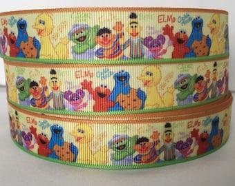 5 YDS Sesame Street Ribbon - Nursery - Big Bird