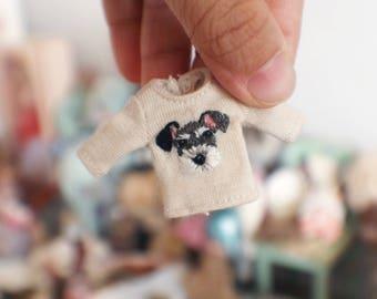 Jiajia Doll Miniature Artworks hand embroidered diy tee fit petite blythe mini dal pullip lati white obitsu ob11 pukip