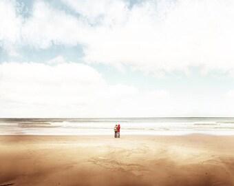 nautical decor beach photography ocean 8x10 24x36 fine art photography coastal prints lonely beach wall decor beige pastel neutral beach art
