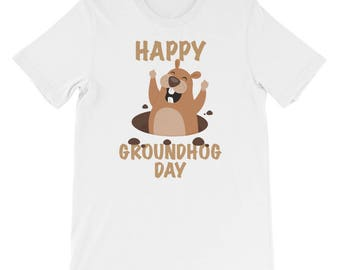 Funny Gift Shirt - Happy Groundhog Day For February 2 2018 T-Shirt