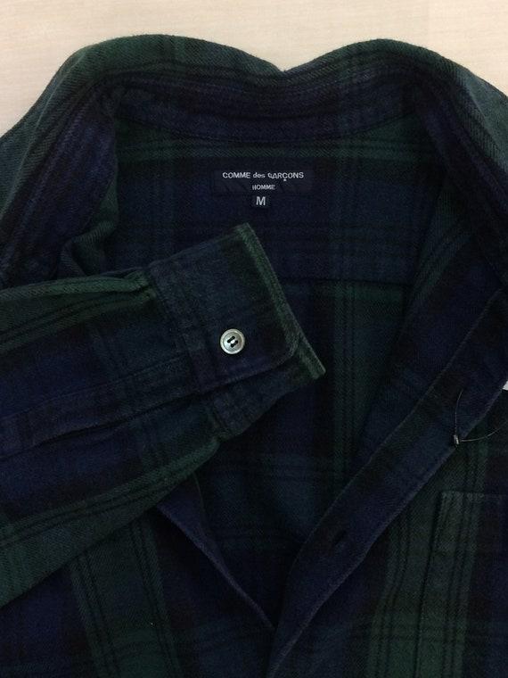 Button Garcons Up Shirt Checkered Plaid Homme Flannel Medium Des Men Boyfriend Size Comme CDG Shirt 0UwfqS