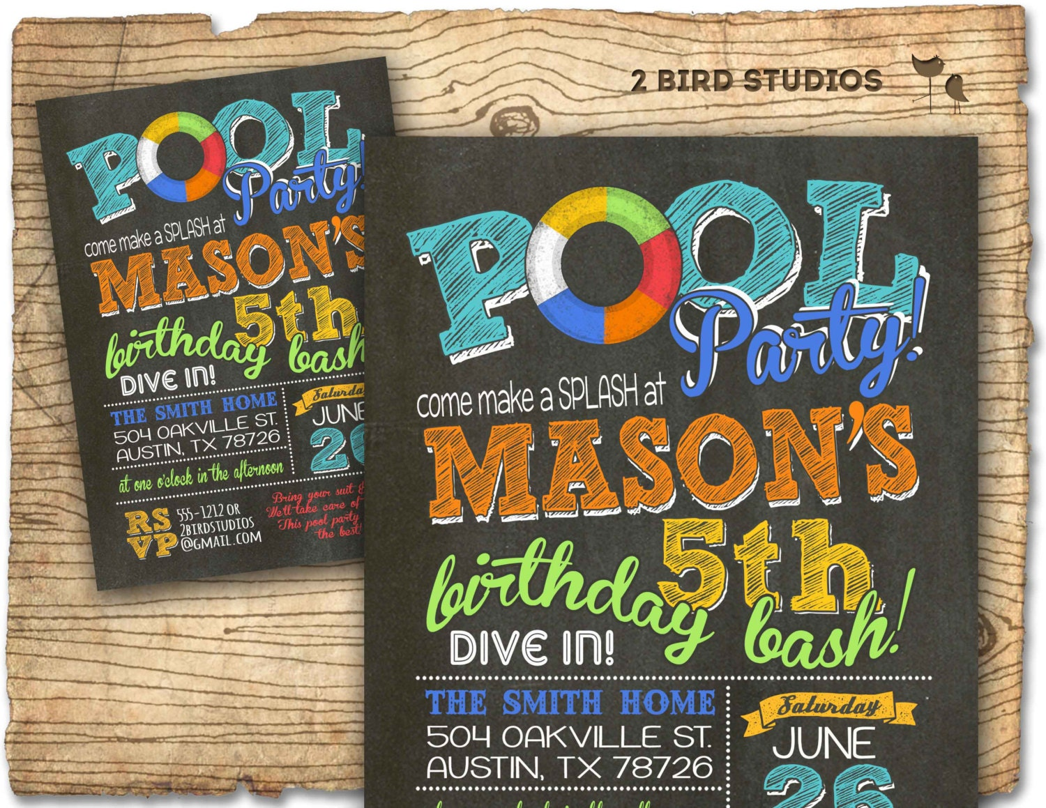 Pool party invitation summer birthday invitation for pool zoom solutioingenieria Choice Image