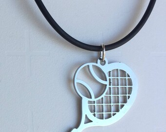Tennis pendant, Tennis necklace,  Christmas gift, New Year Gift