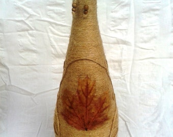 Maple Leaf Twine Bottle