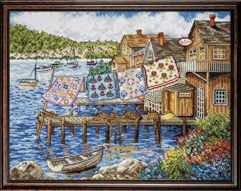 Design Works - Dockside Quilts 2780, Counted Cross Stitch Kit