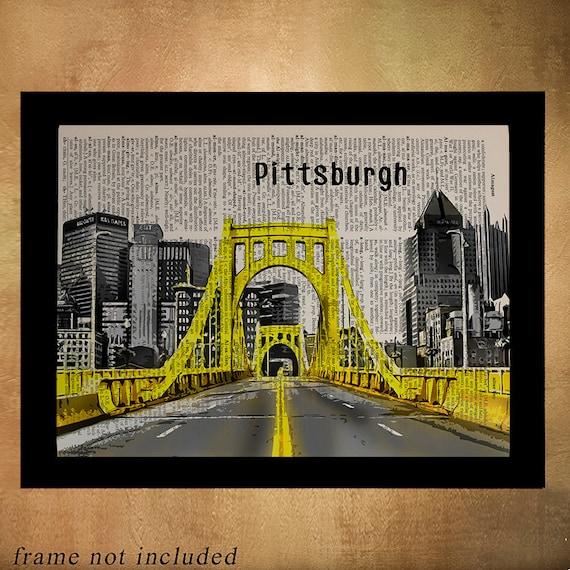 Home Decor Pittsburgh Pa: Pittsburgh Bridges Dictionary Art Print Pennsylvania Bridge