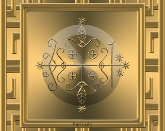 The Veve (seal/sigil) of Papa Legba. Voodoo pantheon of Gods