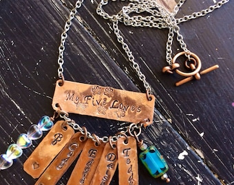 Pet necklace Personalized copper dogs cats