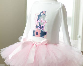 Baby girl pink blue floral first birthday tutu set, Baby girl one year outfit birthday pink tutu baby girl first birthday outfit cake smash