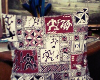 Polynesian Tribal Tropical Cushion