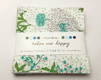 Color Me Happy by V and Co. for Moda, OOP Charm Pack