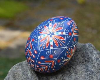 Pysanka chicken egg shell Ukrainian Easter egg hand painted egg ornament