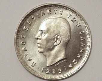 1959 Greece 10 Drachmai