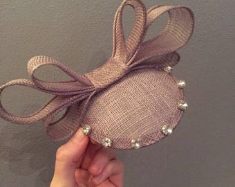 Silver Bow Fascinator with Diamonte Detail