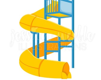 water slide clipart etsy rh etsy com