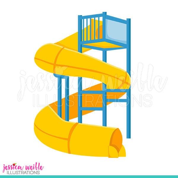 super water slide cute digital clipart water park clip art rh etsy com  water park clipart free
