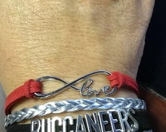 Infinity Love Tampa Bay Buccaneers Bracelet