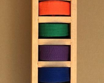 Martial Arts Belt and Trophy Display-Belt Slots Only