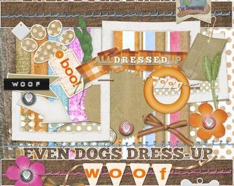 Digital Scrapbooking Dog Halloween Kit