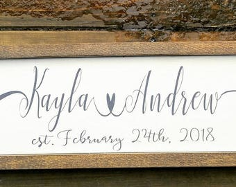 Wedding/Anniversary/gifts/rustic sign/Custom sign
