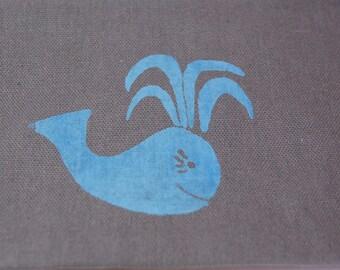 Whale Clutch/Wristlet Bag