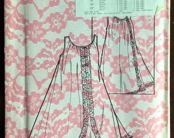 1960's Sleeveless Nightgown pattern - Size 12-14 - No. 6943