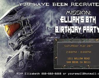 Halo Birthday Invitation (no gun) - Personalized