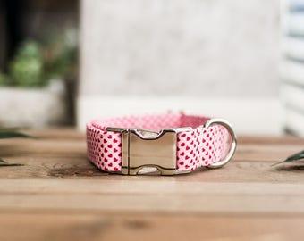 Dog Collar, Valentine's Day Collar, Pink Collar, Girl Collar, Cat Collar, Girly Collar, Hearts Collar, Pink Collar
