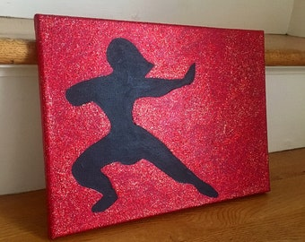 Mulan Glitter Canvas