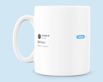 Ed Balls Tweet Mug