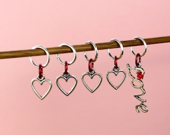 Gift for Knitter, knitting gift, gift for knitters, knitting, LOVE Stitch Markers, knitting tools, gift for mom, knitting supplies