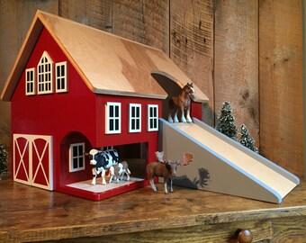 Large Kids Hardwood Toy Barn -SHIPS 1-3 Days-