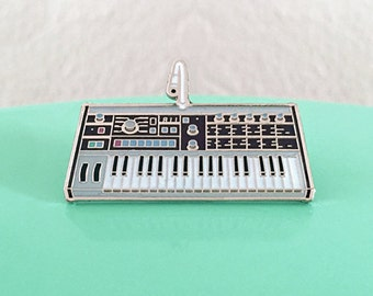 Synth Keyboard Enamel Pin - 2nd Edition