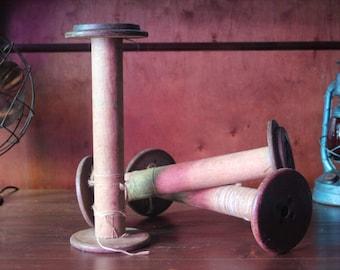 Large Industrial Wooden Spool, Vintage Industrial Bobbin, Industrial Decor, Factory Fresh