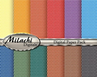 60% OFF SALE Honeycomb Digital Paper Pack - Commercial Use - Instant Download - M43